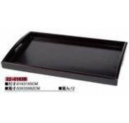 Tray wood 51x31x5 cm deep Black colour