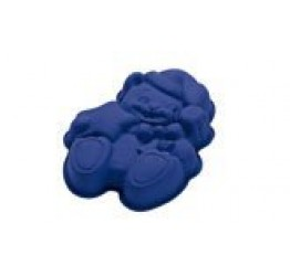 Bakeware Christmas Teddy bear 29x21cm 5.5cm H 100%silicone  Guaranteed quality