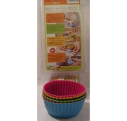 Bakeware cup 6pcs 9.5cm dia 4.7cm H 100%silicone  Guaranteed quality