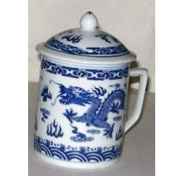 Mug & Lid  9cm Dia 10cm Height Ceramic Rice Pattern Guaranteed quality