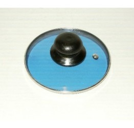 "Lid 16cm/6.25"" diameter Guaranteed quality Blue colour Light see through glass clear vision"