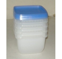 Food Container 1L 11.5x11.5cm H13cm Clear plastic Guaranteed quality