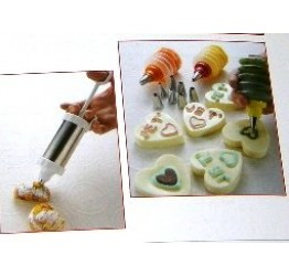 Icing set 7pcs s/s Plastic 22x6cm &Spatula Guaranteed Quality