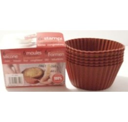 Bakeware cup 6pcs 7cm dia 3.5cm H 100%silicone  Guaranteed quality