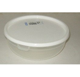 Lunch Box1.25L 18.5 diameter H7cm Clear plastic Guaranteed quality