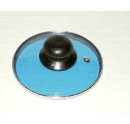 "Lid 14cm/5.5"" diameter Guaranteed quality Blue colour Light see through glass clear vision"