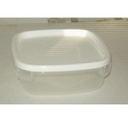 Lunch Box1.75L 16.5x16.5 cm H6.5cm Clear plastic Guaranteed quality