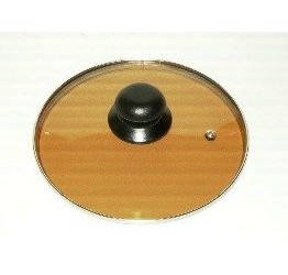 "Lid 14cm/5.5"" diameter Guaranteed quality brown colour Light see through glass clear vision"