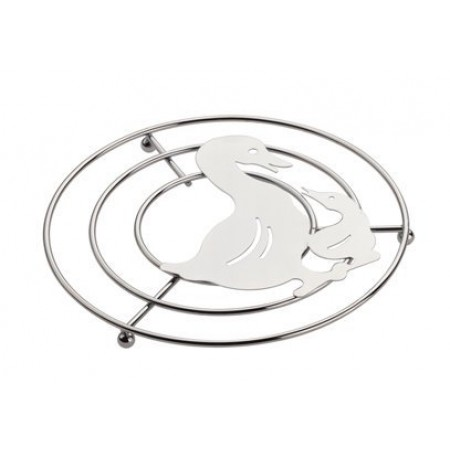 "Trivet s/s Duck 20cm/8"" Dia 2cm H  Guaranteed quality"