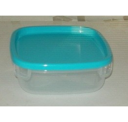 Lunch Box1.1L 17x17 cm H7cm Clear plastic Guaranteed quality