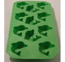 Ice cube Tray Dolphins 18x10cm 100%silicone  Guaranteed quality