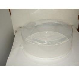 Food Storage 32cm Diameter 13cm Deep Clear plastic lock and handleGuaranteed quality