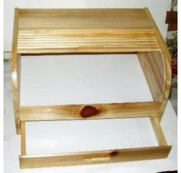 Bread Box with Knife Drawer wood 40.5x30.5x23cm Superior quality
