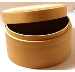 Lunch Box 15cm Dia 6.5cm deep Superior  Quality Wood