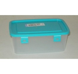 Lunch Box 0.9L 17x12 cm H7cm Clear plastic Lock box Guaranteed quality