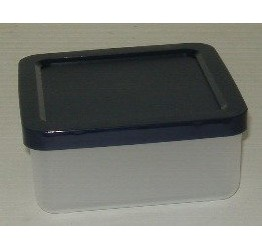 Lunch Box 0.7L 13x13cm H6cm Clear plastic Guaranteed quality