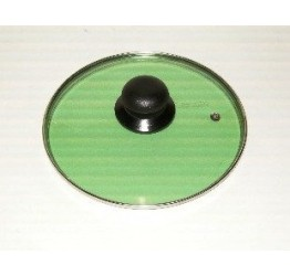 "Lid 18cm/7.1"" diameter Guaranteed quality Green colour see through glass clear vision"