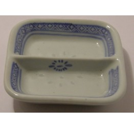 Dish 2 Section  Ceramic Rice Pattern Guaranteed quality