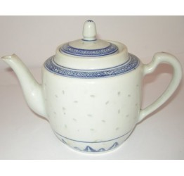 Tea Pot 1000cc Ceramic Rice Pattern Guaranteed quality