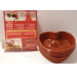 Bakeware Heart 6pcs 11.5x12cm  3.5cm H 100%silicone  Guaranteed quality