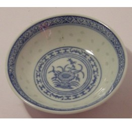 "Dish 10cm/4"" Dia Ceramic Rice Pattern Guaranteed quality"