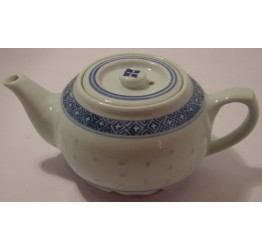 Tea Pot 300cc Ceramic Rice Pattern Guaranteed quality