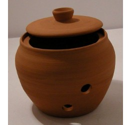 Garlic Storage Jar 9cm dia 9cm H Round shape Terracotta Hand made Guaranteed quality
