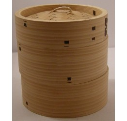 "Bamboo steamer 3pcs 25.5cm/10"" dia Superior quality"