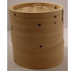 """Bamboo steamer 3pcs 15.5cm/6"""" dia Superior quality"""