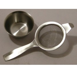 Tea strainer4.5cm single Handle 7cm long s/s guarnteed quality