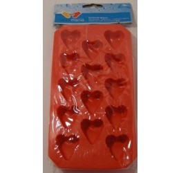 Ice cube Tray Hearts18x10cm 100%silicone  Guaranteed quality