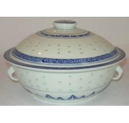 "Tureen with Lids 20cm/8"" dia Ceramic Rice Pattern Guaranteed quality"