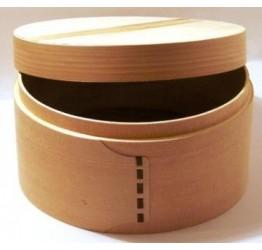 Lunch Box 17.5cm Dia 7cm deep Superior  Quality Wood