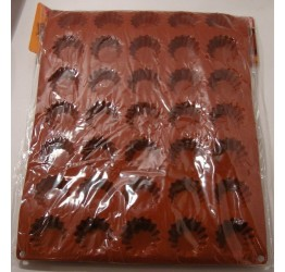Bakeware 35 Tarlets with ribs 5cm H1.5CM 100%Silicone Guranteed  Quality
