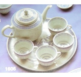 Tea Set 6 pcs Ceramic Rice Pattern Guaranteed quality