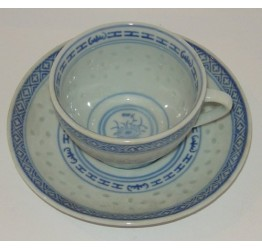 Cup & Saucer set Ceramic Rice Pattern Guaranteed quality
