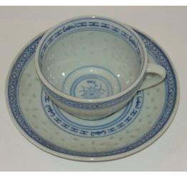 Cup & Saucer set Ceramic Rice Pattern Guaranteed quality